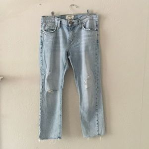 Current/ Elliott Cropped Straight Jeans